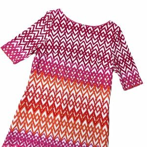 Eliza J Pink Quarter Sleeve Sheath Mini Dress